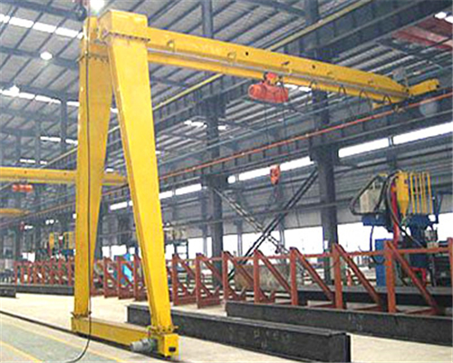 Hoist semi gantry crane