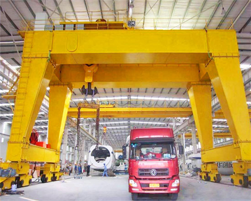 Double girder gantry crane indoor