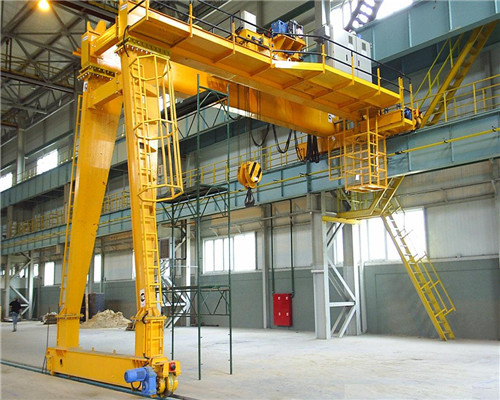 Double girder semi gantry crane