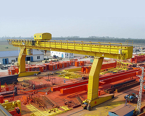 L type leg single girder gantry cranes