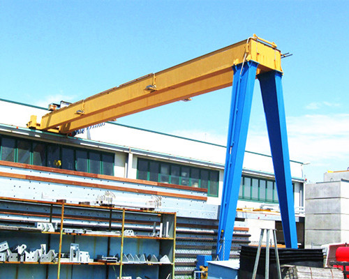 Workshop double girder semi gantry crane
