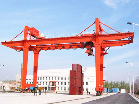high quality rubber tyred gantry crane sales
