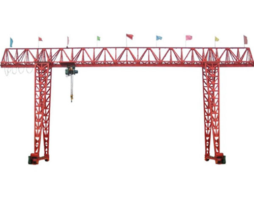 Single girder truss gantry crane with double cantilever