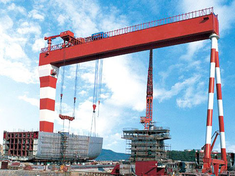 large gantry crane used in shipyard sale