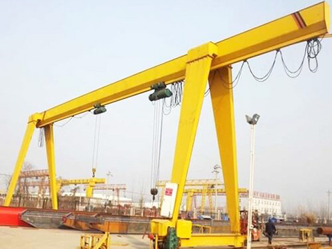single beam gantry crane equipped electric hoist sales