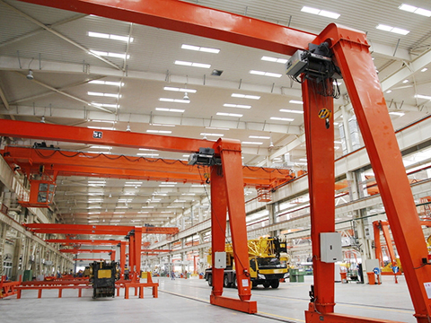 workshop semi gantry crane manufacturer