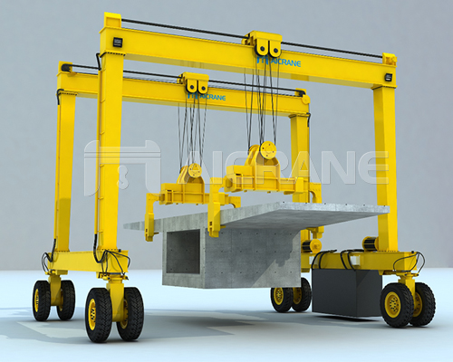 Beam Lifting Rubber Tyred Gantry Crane for Sale